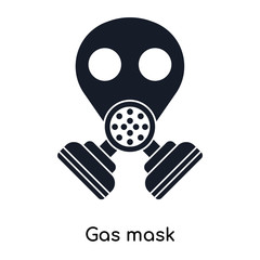gas mask icons isolated on white background. Modern and editable gas mask icon. Simple icon vector illustration.