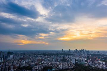 夕方の大都会 Views of the evening in Tokyo