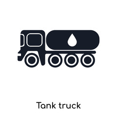 Tank truck icon vector sign and symbol isolated on white background, Tank truck logo concept