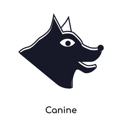 Canine icon vector sign and symbol isolated on white background, Canine logo concept