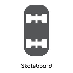 skateboard icon isolated on white background. Modern and editable skateboard icon. Simple icons vector illustration.