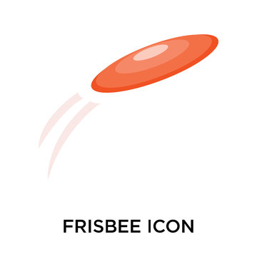 frisbee icons isolated on white background. Modern and editable frisbee icon. Simple icon vector illustration.