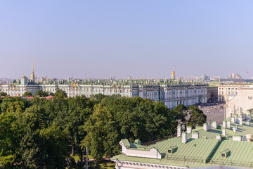 View from the roofs to St. Petersburg, the sights of the city from a height