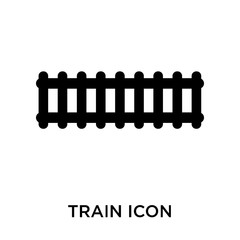 train icons isolated on white background. Modern and editable train icon. Simple icon vector illustration.