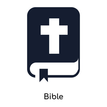 bible icons isolated on white background. Modern and editable bible icon. Simple icon vector illustration.