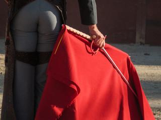 Bullfight - Matadors sword and cape