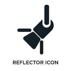 reflector icon on white background. Modern icons vector illustration. Trendy reflector icons