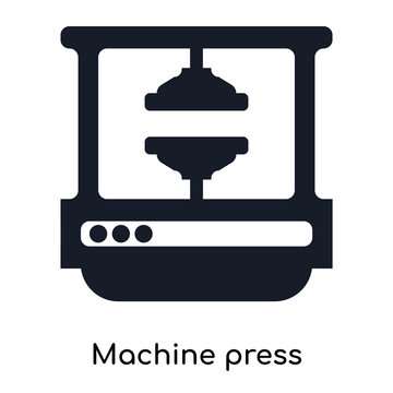machine press icons isolated on white background. Modern and editable machine press icon. Simple icon vector illustration.