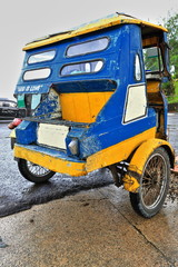 Colorist tricycle at the Chocolate Hills Complex parkng lot. Carmen-Bohol island-Philippines-0611