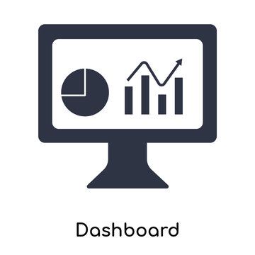 dashboard icon isolated on white background. Simple and editable dashboard icons. Modern icon vector illustration.