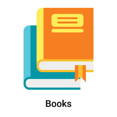 Books icon vector sign and symbol isolated on white background, Books logo concept