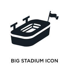 Big stadium icon vector sign and symbol isolated on white background, Big stadium logo concept