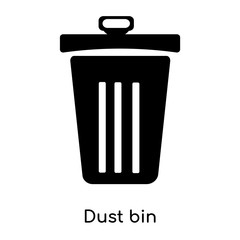 Dust bin icon vector sign and symbol isolated on white background, Dust bin logo concept