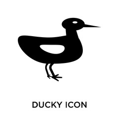 Ducky icon vector sign and symbol isolated on white background, Ducky logo concept