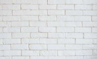 White brick grunge cement wall Texture