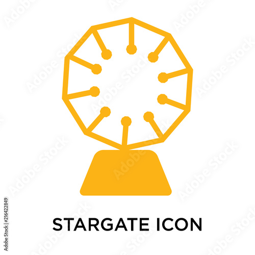 Stargate Icon Vector Sign And Symbol Isolated On White Background