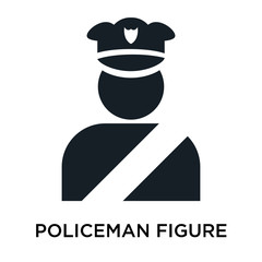 policeman figure icon on white background. Modern icons vector illustration. Trendy policeman figure icons
