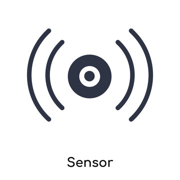 sensor icon isolated on white background. Simple and editable sensor icons. Modern icon vector illustration.