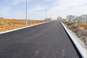 Baustelle im Strassenbau für ein Neubaugebiet
