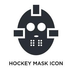 Hockey mask icon vector sign and symbol isolated on white background, Hockey mask logo concept
