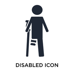 Disabled icon vector sign and symbol isolated on white background, Disabled logo concept