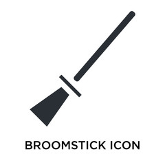 Broomstick icon vector sign and symbol isolated on white background, Broomstick logo concept
