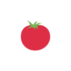 Tomato vegetable organic natural fresh vegetarian food illustration icon vector symbol flat cartoon character style