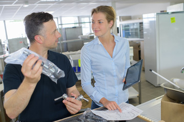 woman during invertory management
