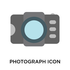 Photograph icon vector sign and symbol isolated on white background, Photograph logo concept