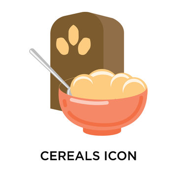 Cereals icon vector sign and symbol isolated on white background, Cereals logo concept