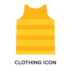 Clothing icon vector sign and symbol isolated on white background, Clothing logo concept