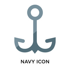 Navy icon vector sign and symbol isolated on white background, Navy logo concept