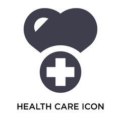 Health care icon vector sign and symbol isolated on white background, Health care logo concept