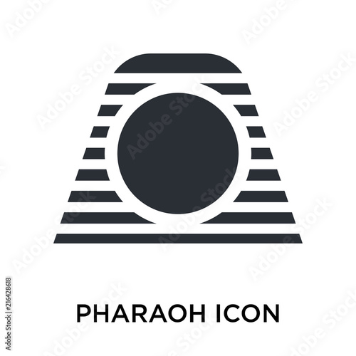 Pharaoh icon vector sign and symbol isolated on white