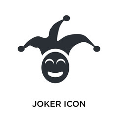 Joker icon vector sign and symbol isolated on white background, Joker logo concept
