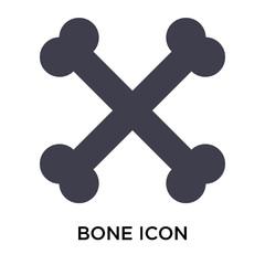 Bone icon vector sign and symbol isolated on white background, Bone logo concept