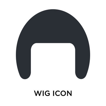Wig icon vector sign and symbol isolated on white background, Wig logo concept