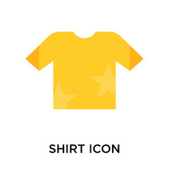 Shirt icon vector sign and symbol isolated on white background, Shirt logo concept