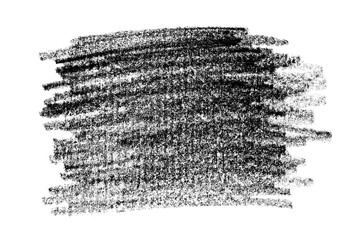 Grunge black graphite pencil texture, isolated on white background
