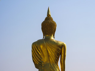 The back side of buddha in Thailand