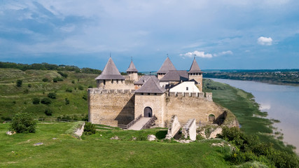 Khotyn fortress on a sunny day