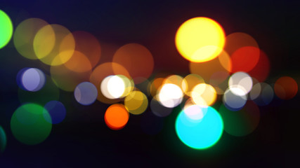Closeup of colorful bokeh texture background (High-resolution 2D CG rendering illustration)