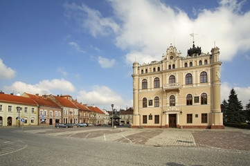 Town Hall at Market square in Jaroslaw. Poland