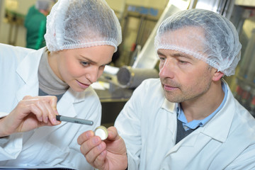 scientists working attentively in laboratory