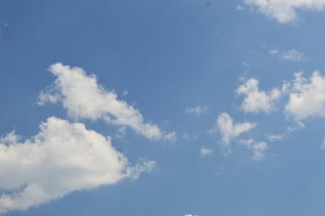 Clouds in the blue sky - Background