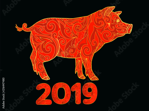 Happy New Year 2019 Chinese Lunar Calendar New Year Of The Pig