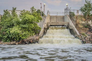outflow of Denver wastewater into South Platte River