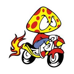 Head mushrooms Fire Bikers
