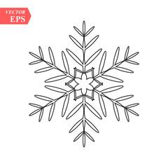 snowflake icon, vector snowflake sign, isolated snowflake symbol