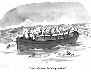 Team building boat